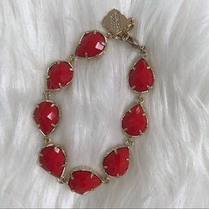Kendra Scott Gold Brynn Bracelet in Bright Red
